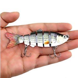 1Pcs 10Cm 18G Fishing Lure Multi Jointed Sections Hard Bait Artificial Crankbaits Wobbler Sinking Lifelike Swimbait For Bass iDQDq