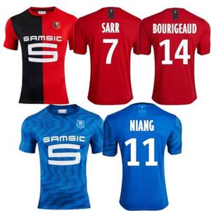 2020 Stade Rennais Soccer Jersey 2019 20 #7 SARR #11 NIANG Football Uniform Rennes #14 BOURIGEAUD #21 ANDRE Soccer Shirt