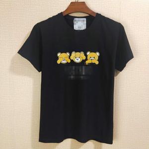 Lüks Erkekler Marka Bayan Baskılı T Gömlek Yaz Designered Erkek Tişörtü Kısa Kollu Casual Top Tees Hip Hop Erkek Streetwears M-XXL 2051102H