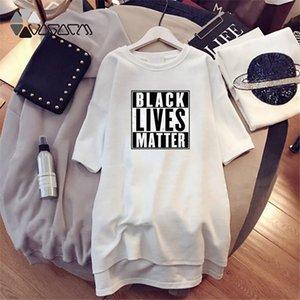 Black Lives Matters Dress Women Summer Letter Printed Affirmative Movement Dresses Womens Casual Resist Dress
