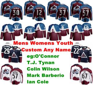 Colorado Avalanche Jerseys 22 Colin Wilson Jersey Logan O'Connor T. J. Tynan Mark Barberio Ian Cole Ice Hockey Jerseys Сшитые Мужские На Заказ