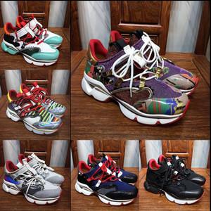 2019 novos sapatos de Spike quente, um ombro sapatos baixos vermelhos com Krysta, sapatos baixos multi-color Donna 30mm para homens e mulheres sapatos casuais 36-46