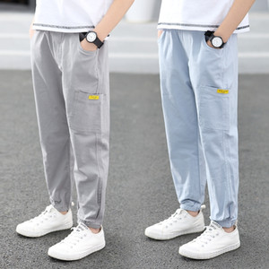 2020 Summer boys' thin jeans anti-mosquito anti-mosquito pants autumn children's casual jeans pants children's wear
