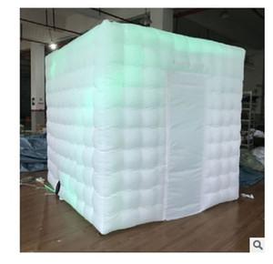 2020 vendita calda aria stampo per aria piena cabina di foto in studio gonfiabile piccolo spazio di illuminazione foto LED gonfiabile Photo Booth tenda Adverti