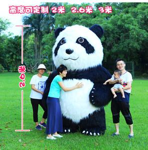 Mascota de Panda inflable de 2.6M High para el parque temático Ceremonia de la ceremonia de la ceremonia para el partido Mascotas personalizadas