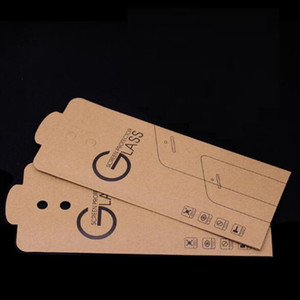 Universal Kraft Paper Retail Package Packaging Box for Mobile Phone Tempered Glass Screen Protector Bag Pouch 180*88mm