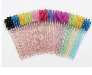 2500pcs Shiny Eyelash Brush Disposable Eyebrow Brushes Mascara Wands Applicator Lash Curling Comb Grafting Beauty Makeup Tool#31656