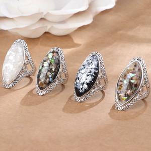 Retro colorati Shell anello di scavare fuori le donne anelli gioielli anello anello di diamanti donne regalo di monili 080.529