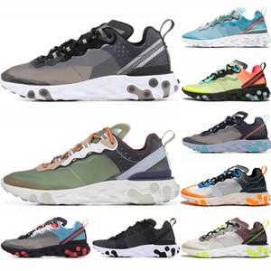 nike React Element 87 Erkekler Kadınlar Eleman 87 React Koşu Ayakkabı yeşil sis neptün yeşil chaussure femme Eğitmenler Nefes kraliyet tonu yelken beyaz Spor Sneakers