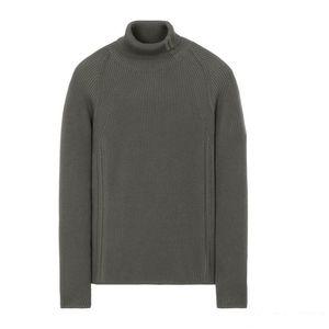 hot 19FW TURTLENECK WOOL SWEATER TOPST0NEY High Collar Crewneck Sweater Knitting Pullover Men Women Fashion Solid Color Sweatshirt