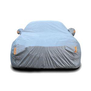 PEVA Waterproof Full Car Cover Thicken Sun Dust Rain Protection Car Cover Universal For Sedan Hatchback SUV