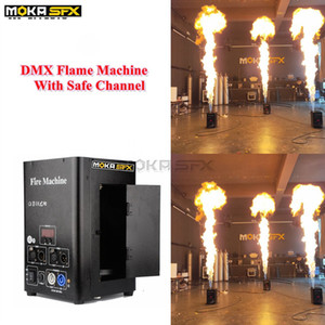 Fábrica diretamente as vendas-maneira única fase chama atirador dois canais DMX máquina fogo pulverizar 3m máquina de chama de alta no efeito de iluminação fase