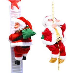 جديد الكهربائية سانتا كلوز تسلق سلم هدية عيد الميلاد حزب الاطفال لعبة دمية الموسيقى الرجل العجوز الأطفال الإبداعية هدية تسلق حبل كبار السن