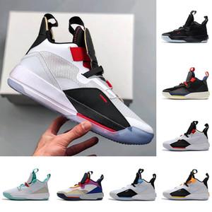 Luxury Shoes Mens di pallacanestro XXXIII PF 33 Future of Flight modo di marca 33 Tech Pack 33s formatori Nero Testa di fumo grigio Sail scarpe da ginnastica