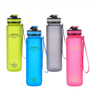 UZSPACE 650 Bottle 1000ml Sports Exterior Água Potável Protein portátil Shaker Outdoor de Fitness Yoga Camping Halloween