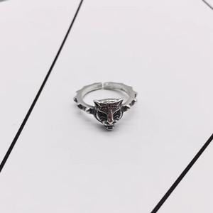 عالية الجودة النمر رئيس المفتوحة خاتم فضة الشخصية ذيل صغير مجوهرات خاتم الوزن 4.5G حزام أزياء ذات جودة عالية