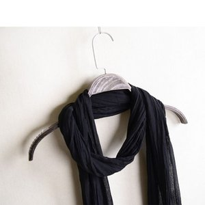 Summer Decorative Small Scarf Thin Long Thin Cotton Scarf Pleated Dirty Dyed Old Cotton and Linen Long Scarf Spring and Autumn Women