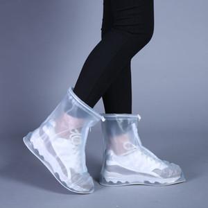 2020 Neue im Freien Regen Schuhe Boots-Abdeckungen Wasserdicht Rutschhemmende Überschuhe Galoschen Reisen für Männer Frauen Kinder