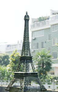 72CM(28.3inch) Tall Vintage 3D Paris Eiffel Tower Metal Model Bronze Color Craft for Shooting Prop Home wedding table Decoration Supplies