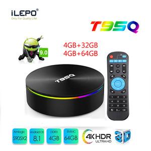 Melhor Amlogic S905X2 caixa inteligente Sunvell T95Q Android caixa de 8,1 tv 4GB 32GB 64GB Dual Band AC Wifi Transmissão Media Player