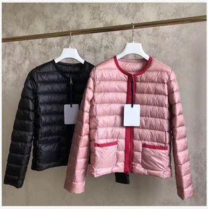 HOT Top qualité New femmes Veste Casual Down Manteaux Manteau chaud femmes extérieures légère outwear Vestes Parkas color rose noir