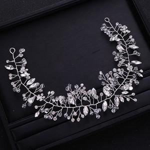 Handmade Silve Crystal Rhinestone Wedding Headband tiara Bridal Headpiece Hair Vine Women Hair Jewelry Wedding Hair Accessories