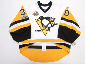 Cheap custom MURRAY PITTSBURGH PENGUINS 100 ANNIVERSARY JERSEY GOALIE CUT stitch customize any number any name Mens Hockey Jersey XS-5XL