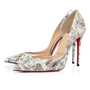 Cuero negro de patente desnudo del brillo de las mujeres Zapatos rojos Zapatos iriza abajo, Italia lujo de los hombres rojos soles los tacones altos de lado libre del vestido de partido / Pisos Tacones