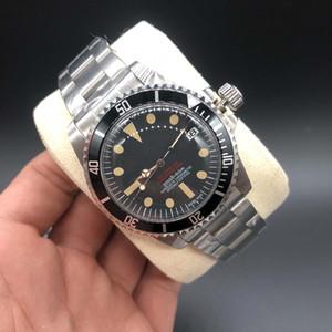 Saatler Yüksek Kalite İzle DP Fabrikası Maker Siyah Dial 40mm Vintage DENİZ Modeli Asya 2813 Hareket Mekanik Otomatik Erkek Saatler