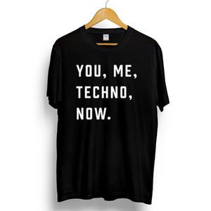 ВЫ, Я, ТЕХНО, СЕЙЧАС. Футболка с принтом Mens Music Слоган с принтом Detroit Acid House O-Neck Повседневная короткая футболка