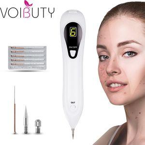 Wiederaufladbare Plasma 6 Gang Laser LCD Sweep Spot Stift Spot Sommersprossen Warze Mole Tattoo Entfernung Maschine Gesicht Hautpflege Werkzeug