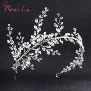 Damas de honra Noiva Tiara Crown Handmade Silver Leaf Headband casamento Mulheres Cabelo casamento RE775 jóias headpiece