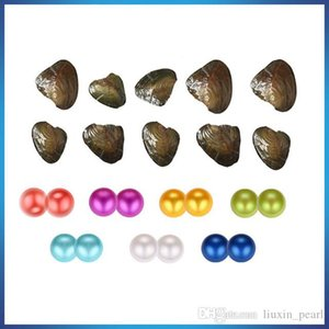 2020 DIY 7-8mm Round Twins Pearl Variety Good Of Color Love Wish Pearl freshwater Oysters Individually Vacuum Pack Fashion Gift Surprise