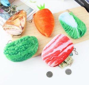 Vegetable Artifiacial Cute 3D Coin PLush Purses Wnmam
