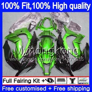 Инъекции для KAWASAKI ZX1000 ZX 10 R 2011 2012 2013 2014 2015 218MY.14 ZX 10R 1000CC ZX-10R ZX10R 11 12 13 14 15 OEM обтекатели глянцевый зеленый