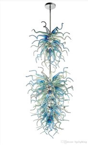 Весна Стиль Art Glass Люстра выдувного муранского стекла Люстры Customized Цветные выдувного стекла руки подвесные светильники для декора Фойе