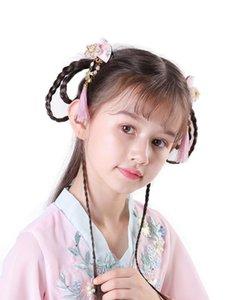Fan şekil çocuk saç aksesuarları Çin antik saç aksesuarları püsküller adım shake Hanfu klip