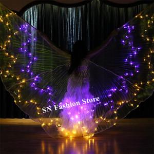 M99 Balo Salonu dans kadın sahne led kostümleri giyer renkli ışık bellydance pelerin led kelebek kanatları göster elbise rave kıyafetler dj dj bar gerçekleştirmek