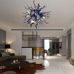 Bola de la lámpara contemporánea 36inch soplado a mano de cristal de luz LED moderna araña de cristal para el dormitorio Living comedor Habitación Interior de la casa