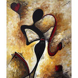 pinturas al óleo decorativa de la pared del arte por el amor de Música cuadro abstracto decoración para el hogar hechos a mano