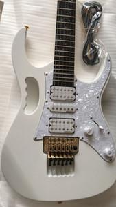 Tüm Çin Gitar Facotry En İyi Kalite Wh Beyaz Elektro Gitar Taraklı Klavye, Abalone Asma Kakma, Floyd Rose Tremolo, Aslan Pençesi