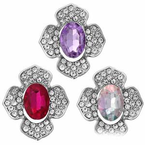 NOOSA strass Jeweled Cross Snap Button Jewelry Ovale Cristal Snap pour 18mm Snap Button Bracelet Collier Anneaux Bijoux