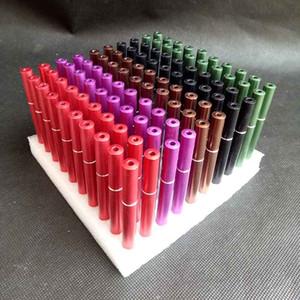Cigarette colorée en forme de tuyau en métal de la majuscule tabac tabac tabac tabac filtres tubes tubes supports outils 78mm longueur tabâtre snorter 100pcs / lot
