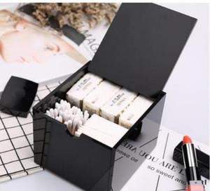 Neue 2019 Acryl Make-up Baumwolle Aufbewahrungsbox Kosmetik Multifunktions Lagerung Wattestäbchen Box klassische Logo Hochzeitsgeschenk