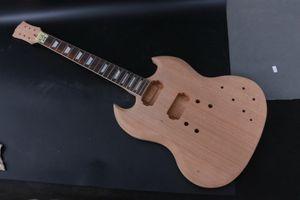 Guitar Kit Guitar Body Neck 22 Fret SG Chitarra elettrica tastiera in palissandro