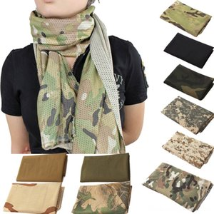 OutdoorUnisex Fish Net Mesh Scarves & Wraps Hats, Scarves & Gloves Tactical Camouflage Scarf Veil Neckerchief for Activities and W