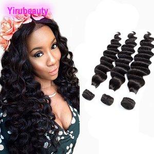 Malaisie cheveux humains déchaîne trois Bundles couleurs naturelles déchaîne 3 Bundles Extensions de cheveux double Trames 8-26inch