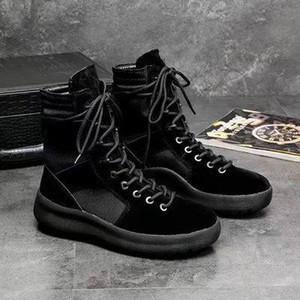 Hot Sale-marque bottes meilleure qualité crainte de Dieu Baskets montantes militaire Hight Armée Bottes Hommes et femmes Chaussures Mode Martin Bottes 38-45 y0