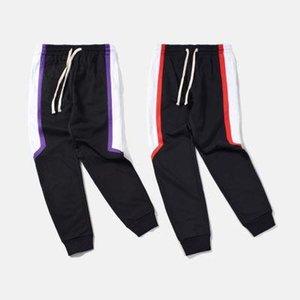 high quality 2019 mens jumpsuit pants black patchwork joggers Long Pants Men hip hop Casual Panelled sweatpants Free Shipping