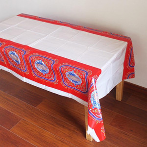 Ramadan Decor Table Cover 108 * 180 cm Toalha De Mesa De Plástico Descartável Toalha De Mesa À Prova D 'Água Para O Islão Muçulmano Decoração BC BH1408